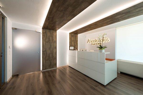 Reception desk Anastasakis Hair Clinic