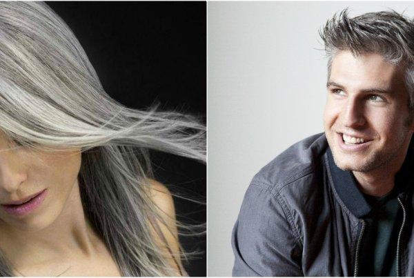 Πρόωρο γκριζάρισμα μαλλιών σε άνδρα και γυναίκα