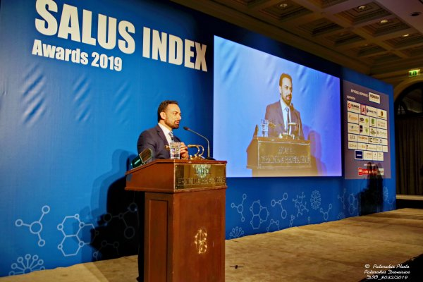 dr anastasakis at salus index awards 2019 - best hair clinic in Greece