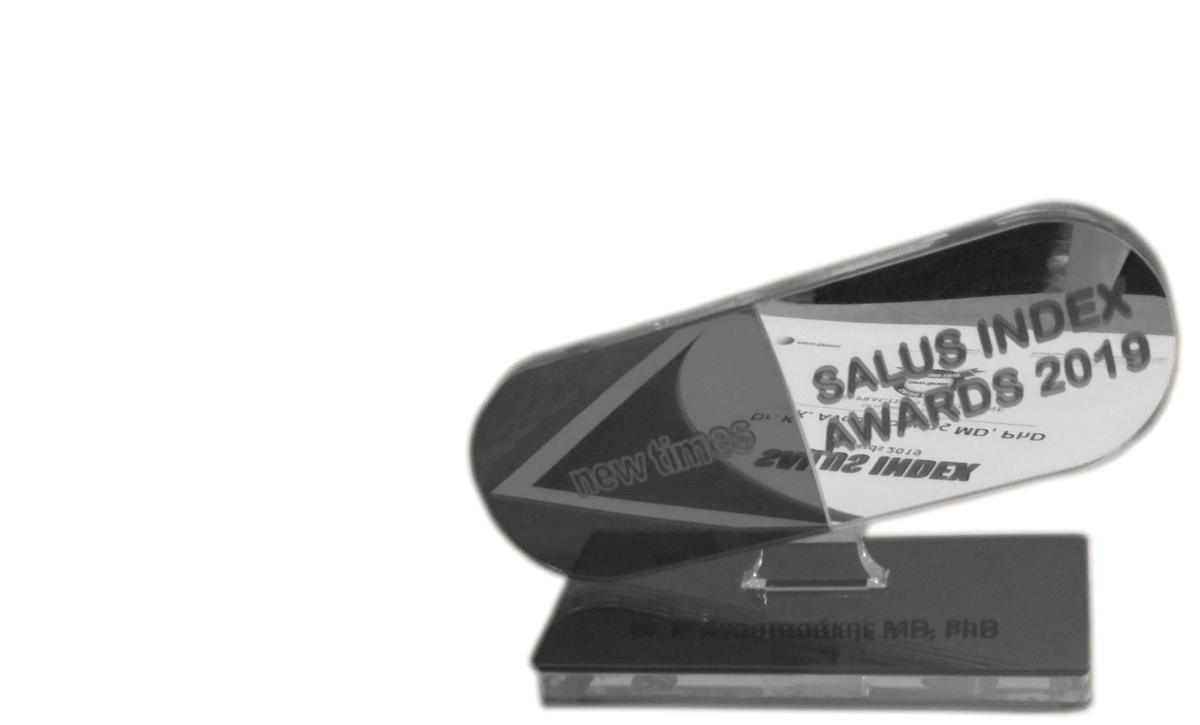 salus index award 2019 - best hair transplant doctor - anastasakis hair clinic