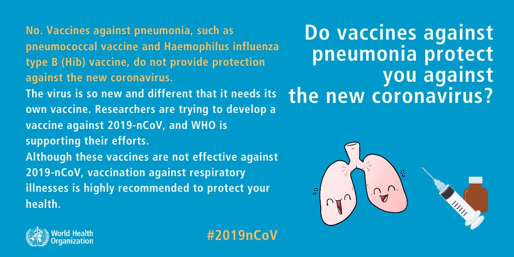 Do vaccines against pneumonia protect you against the new coronavirus?