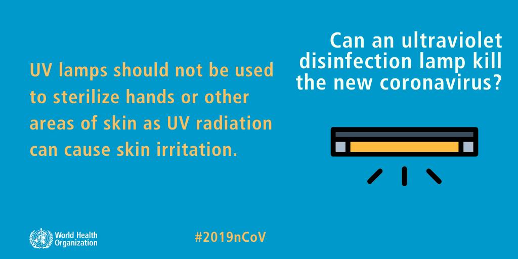 Can an ultraviolet disinfection lamp kill the new coronavirus?