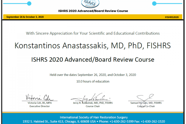 ishrs 2020 advanced board review course dr anastassakis