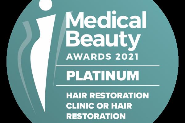 platinum award για την anastasakis hair clinic
